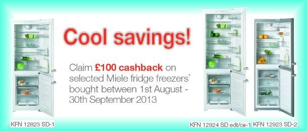 Cool savings on selected Miele fridge freezers