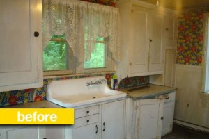 a farmhouse transformation before