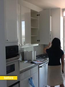 updating a plain white kitchen before