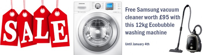 Samsung washing machine with free vacuum cleaner