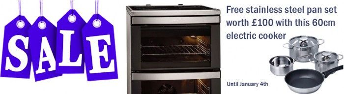 AEG cooker with free pan set