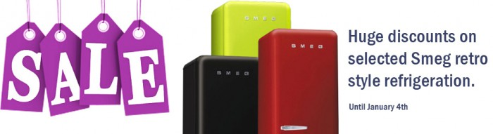 Smeg retro fridge freezers now reduced