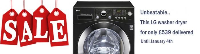 LG washer dryer £539 delivered