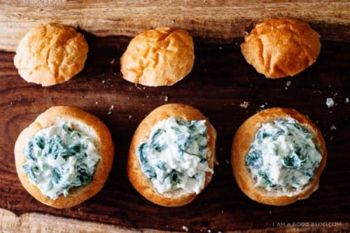mini baked jalapeno spinach dip
