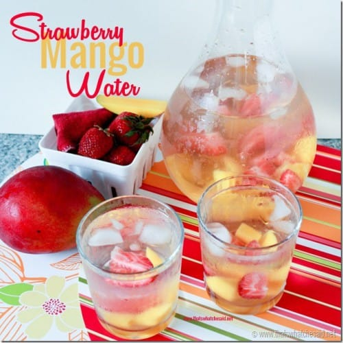 Strawberry and mango water
