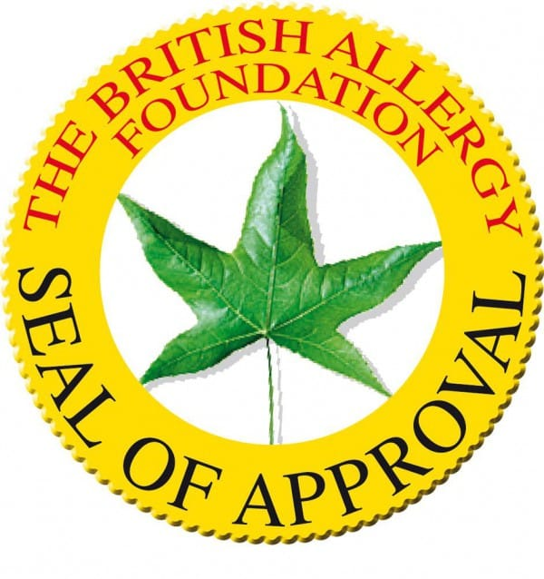 the british allergy foundation seal of approval - Servis Appliances