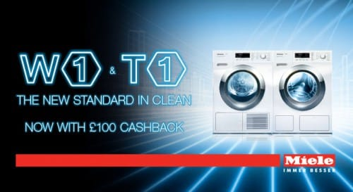 SHOP & SAVE | £100 cashback on W1 washing machines and T1 tumble dryers | Appliance City