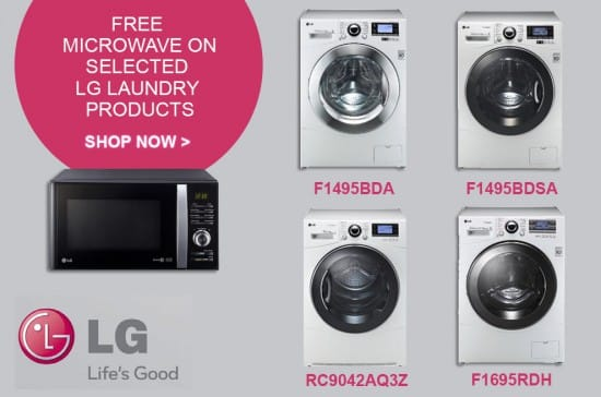 Free Microwave on selected LG Laundry Products | Appliance City EXCLUSIVE
