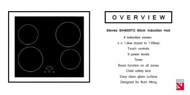 Stoves SIH600TC 60cm Induction Hob Overview | Buy at Appliance City
