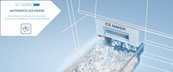NEW Haier 4D Series 100 - 4DS100 Fridge Freezer | Automatic Ice Maker