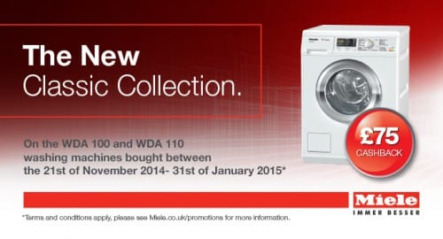 £75 Cashback on the New Classic W1 washing machines | Appliance City