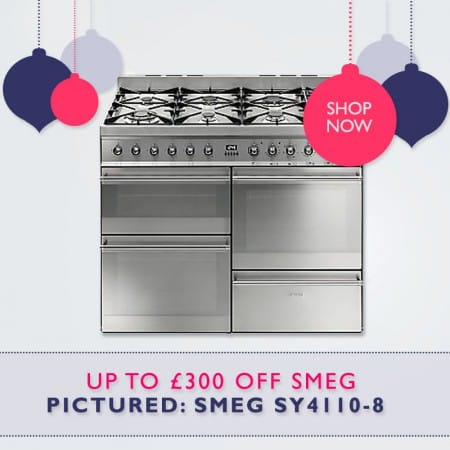 UP TO £300 off Smeg Range Cookers. FREE Christmas Delivery | Appliance City