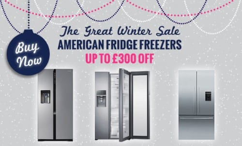 The Great Winter Sale NOW ON! - up to £300 off American Fridge Freezers | Appliance City