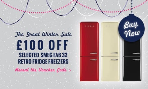 The Great Winter Sale NOW ON! - £100 off selected Smeg Fab32 Retro Fridge Freezers | Appliance City