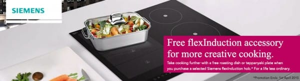 Free Siemens Accessory with flexInduction Hobs   Appliance City