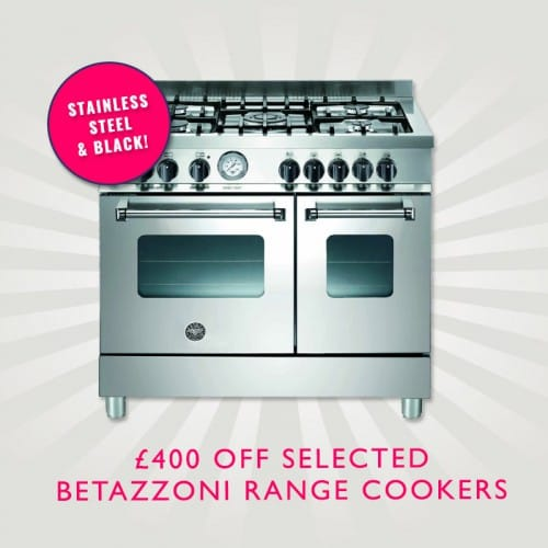 £200 off and an extra £200 Voucher Code on selected Beratazzoni Range Cookers!