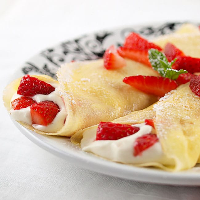 Appliance City - Recipes - White Chocolate Mousse Crepes