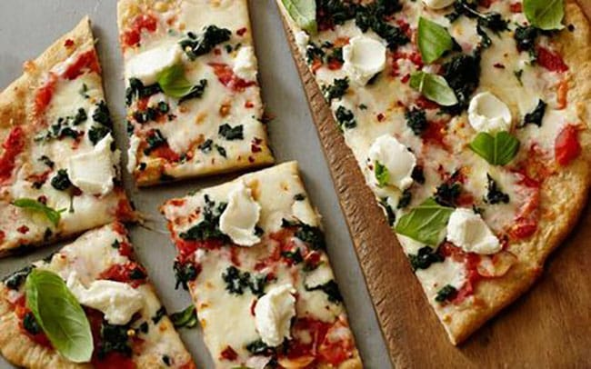 Appliance City - Recipes - Pizza with Spinach and Ricotta