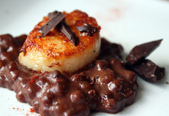 Appliance City - National Chocolate week - Chocolate Parmesan Tapioca with Scallops Recipe