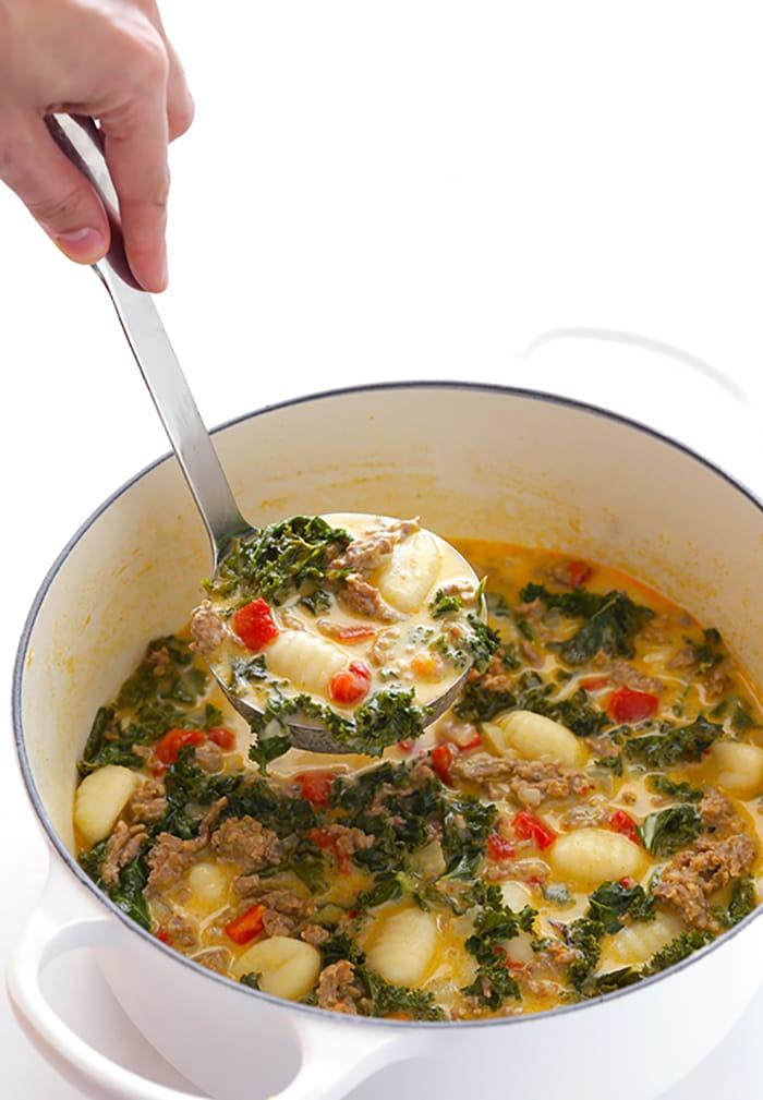 Appliance City - Recipes - Creamy Gnocci and Kale Soup