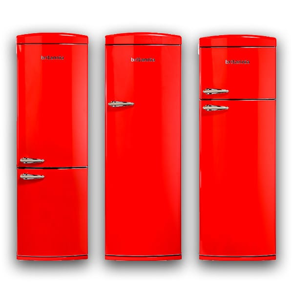 Retro Red Fridge Freezers by Britannia at Appliance City