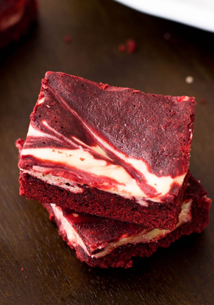 Thanksgiving Recipes - Red Velvet Cheesecake Brownies