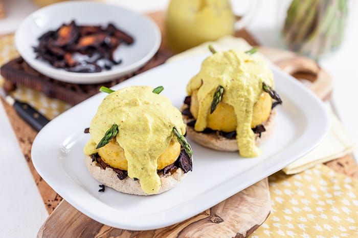 Vegan Recipes - Appliance City - Soy Free Vegan Benedict