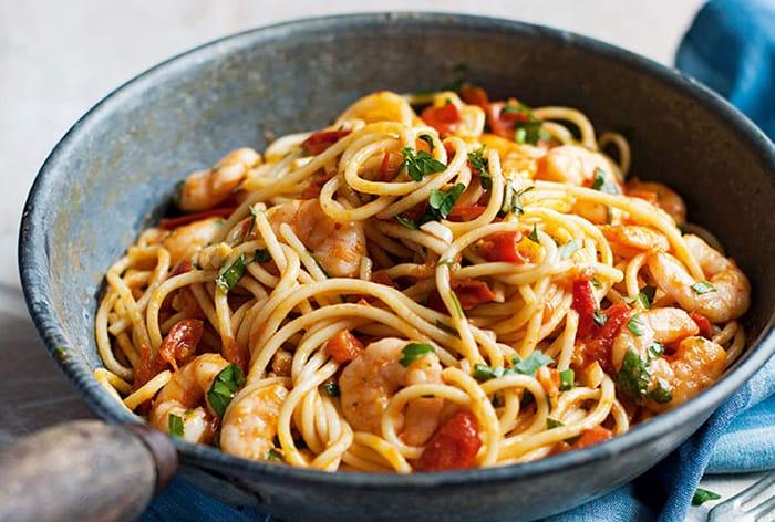Appliance City - Recipes - Spicy Tomato and Prawn Spaghetti