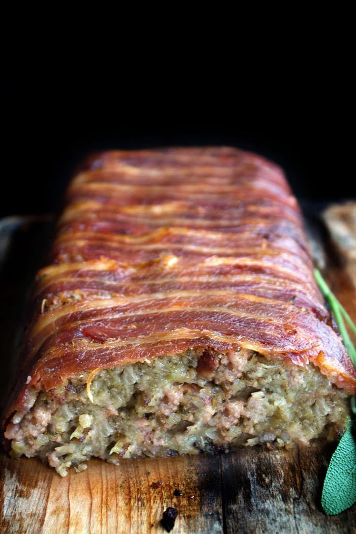 Bacon Wrapped Sage and Sausage Stuffing - Recipes - Appliance City