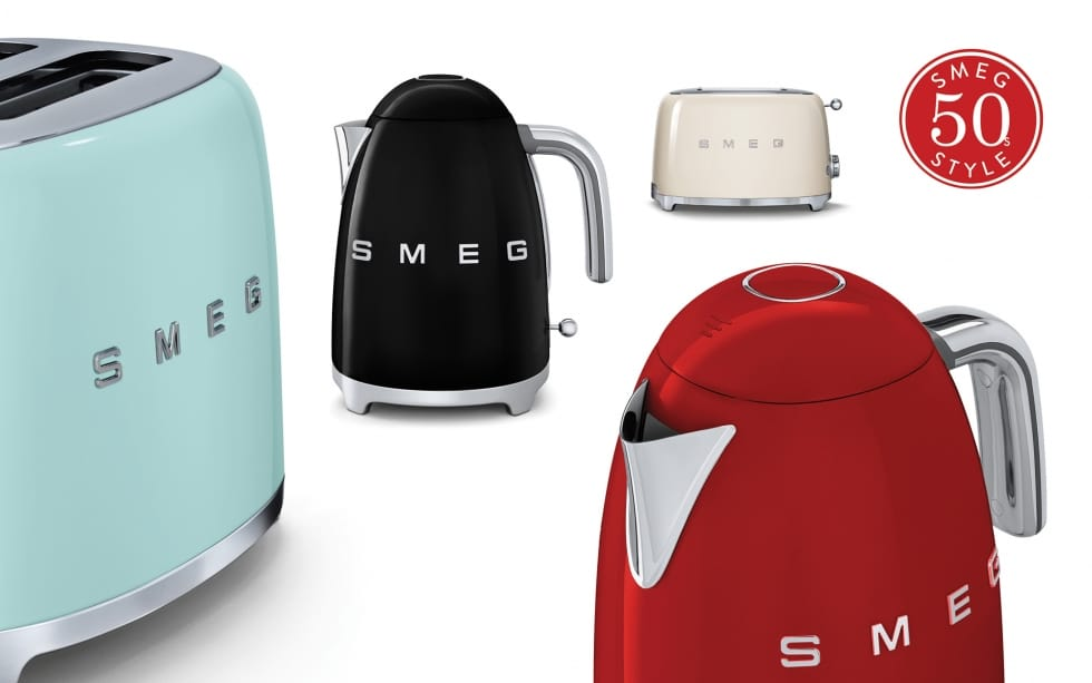 Smeg small appliance - kettle and toaster banner